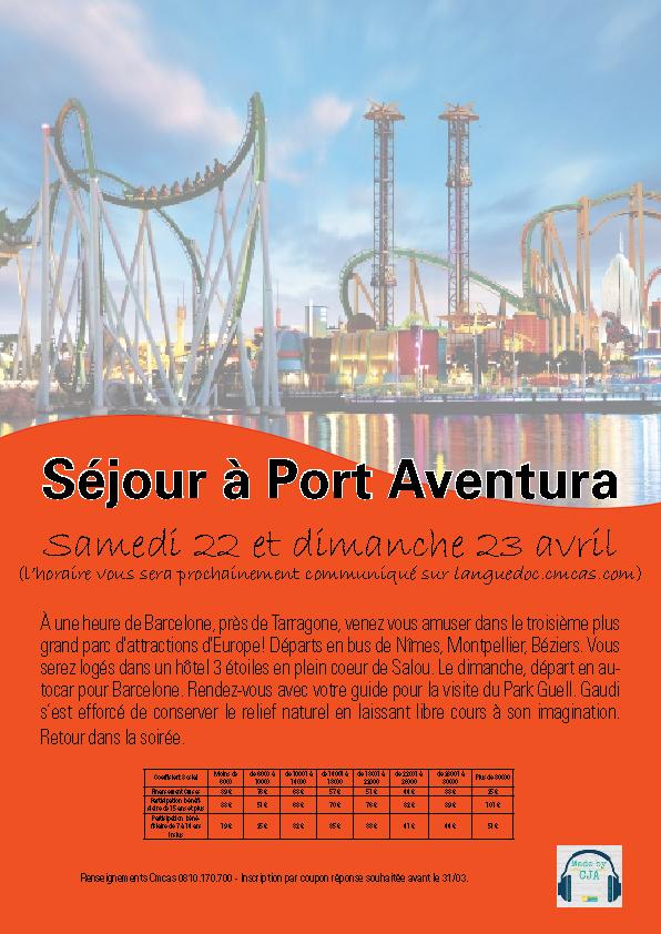 Séjour à Port Aventura Priorité Aux Ans Languedoc - Sejour port aventura