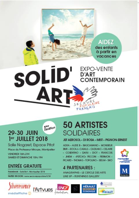 une grande expo-vente solidaire d'art contemporain en soutien à la campagne vacances du SPF
