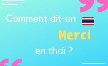 Comment dit-on merci en thaï