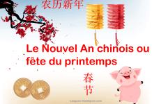 Nouvel an chinois bonne année