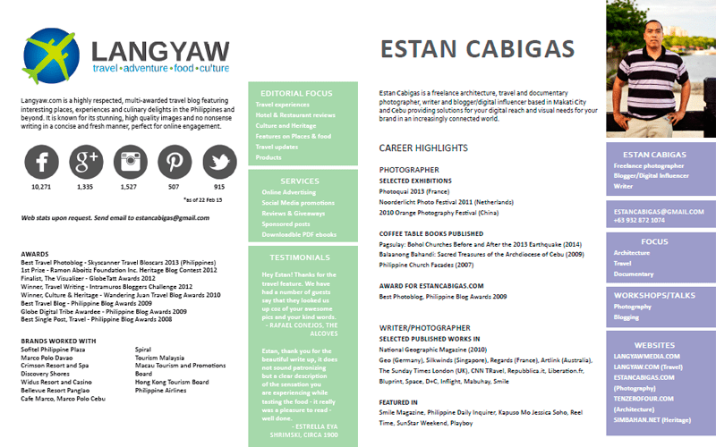 Want to work with Langyaw Media? Download this media kit. For stats, send an email.