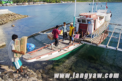 The pumpboat that took me from Cuyo to Agutaya island.