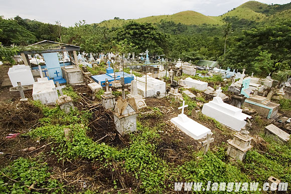 The cemetery located at a hillside far from the town. Forced segregation of lepers from the country meant living and dying in this island.