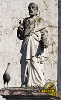 Bust of St. Peter at the front fence