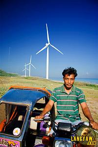 A tricycle driver in Bangui, Ilocos Norte