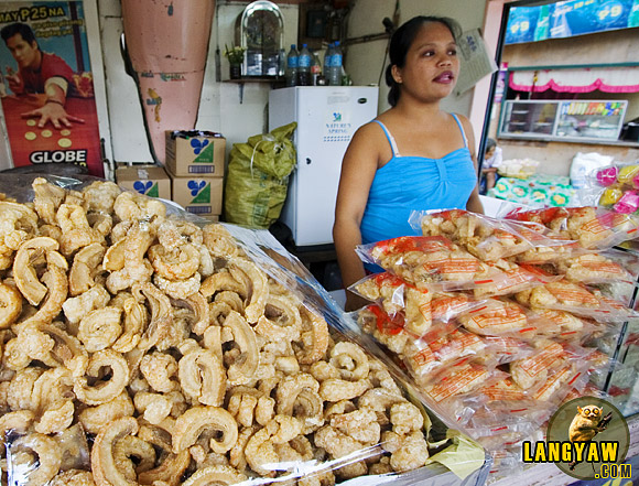 Delicious chicharon at a roadside stall in Carcar