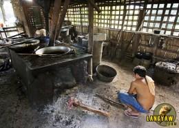 Typical chicharon kitchen