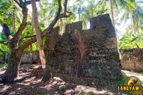 One of the ramparts of the fortress ruins of Daanglungsod, Oslob