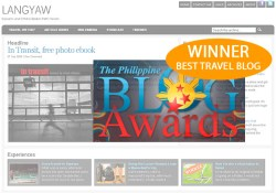Best Travel Blog, Philippine Blog Awards, 2009