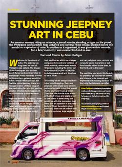 Juan Magazine article on Cebu's colorful jeepneys