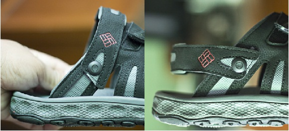 The Intechange: a rotatable strap transform the Techsun sandal into a slip on