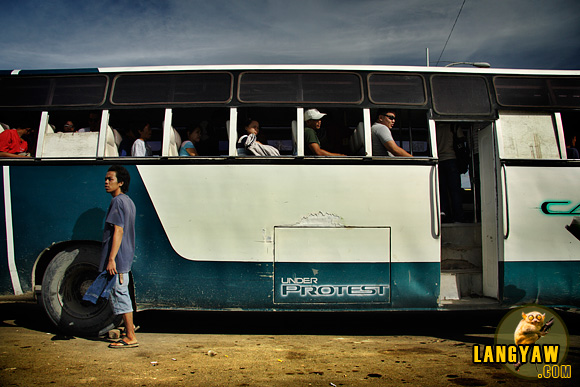 Minibus in Cebu's Southbus Terminal.