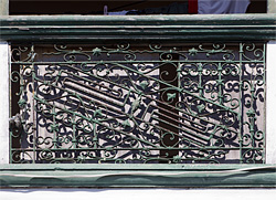 Interesting detail of ventanilla wrought iron grill
