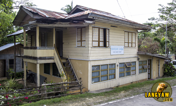 Exterior of Buhisan Lodge which is just along the main road