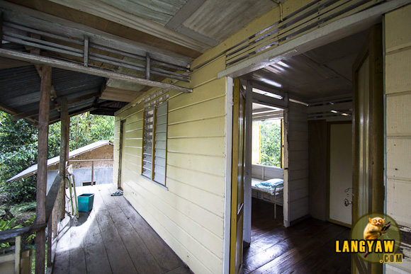 View of the room and outside