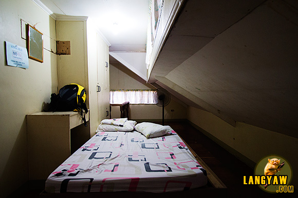 My attic room, non airconditioned at P300 ($7)