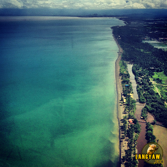 Butuan's coast as seen from the airplane