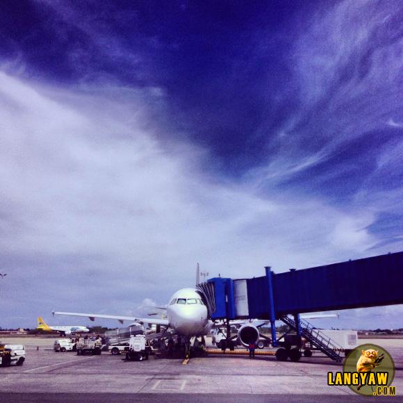 At Cebu's Mactan International Airport for my flight to Boracay