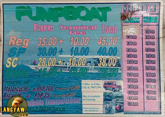 Santander - Sibulan pumpboat schedule