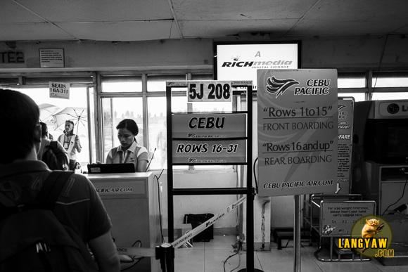 Boarding time via 5J