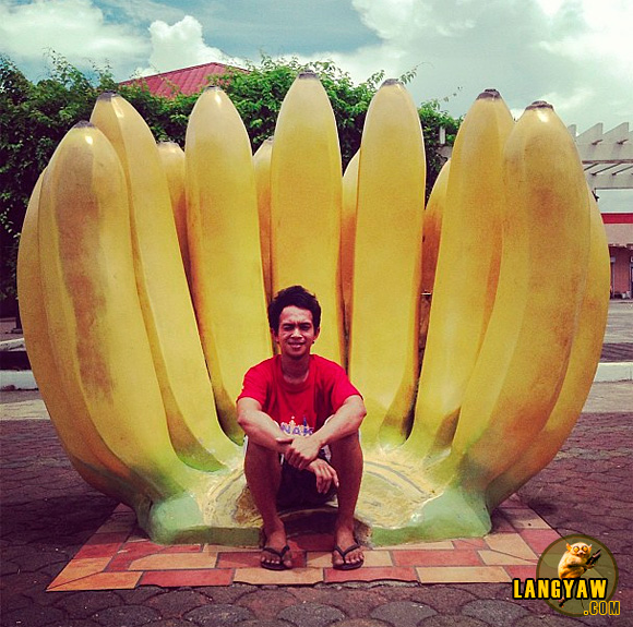 A local lad at Gingoog City's plaza