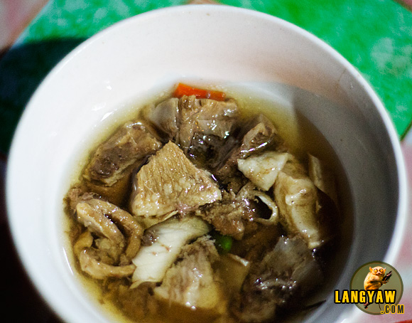 Beef halang-halang is tender, mildly spicy and good