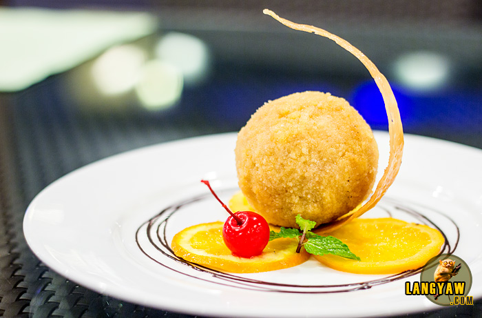 Deep fried ice cream as plated