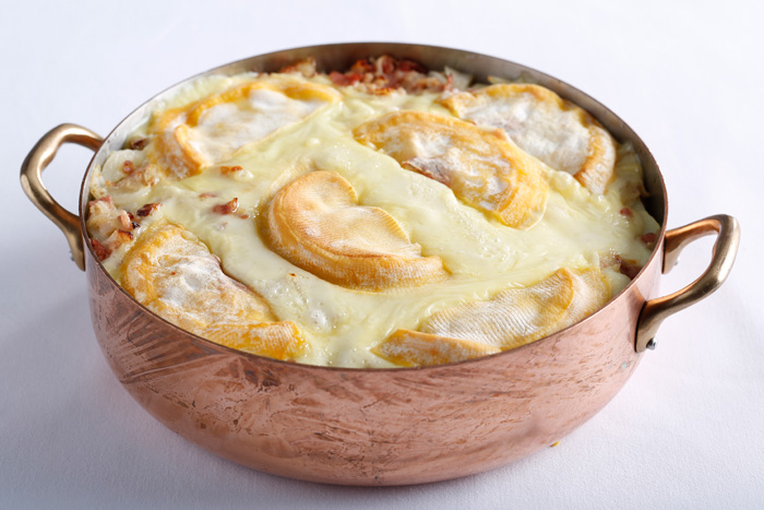 Potato reblochon cheese gratin