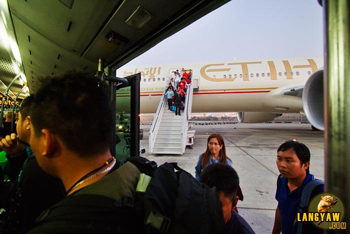 At the tarmac of Abu Dhabi International Airport