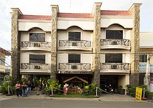 Facade of the inn