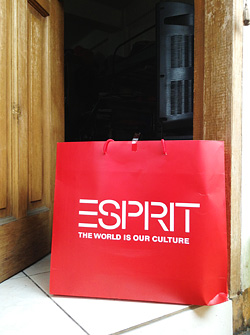 Went to Esprit at Glorietta where I found marked down items at 30-60% discount