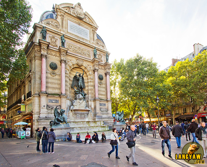 The popular and historic Place St. Michel at the 5th Arrondissement