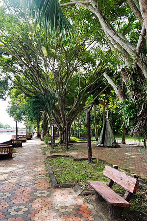 The beautiful park across Dataran Tanjung Chali