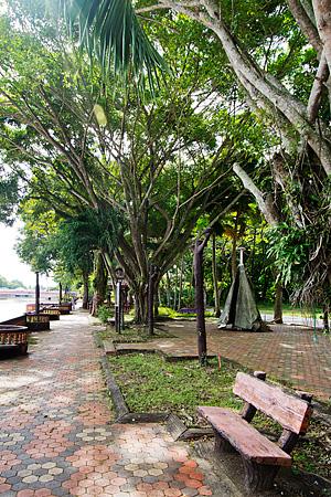 The beautiful park across Dataran Tanjung Chali