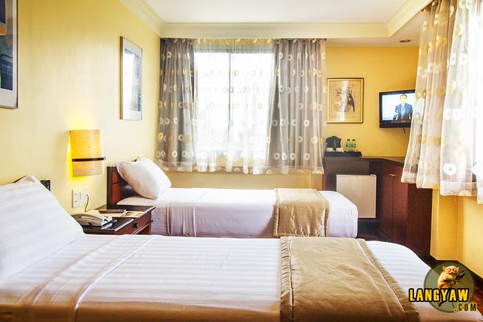 A corner Deluxe Double room