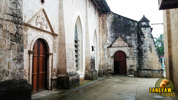 Outside of the coral stone church