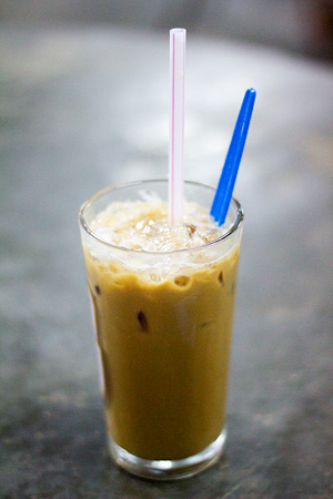 Iced coffee for a hot and humid evening