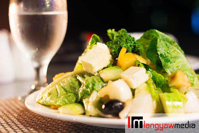 Cafe Alredo salad with olives, feta cheese