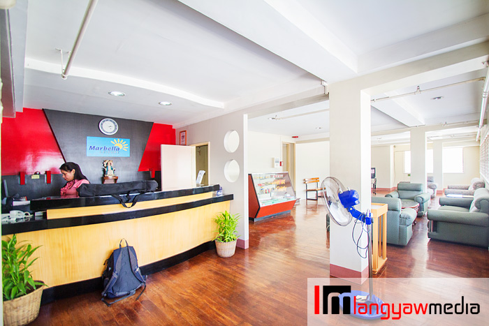 Hostel lobby and front desk
