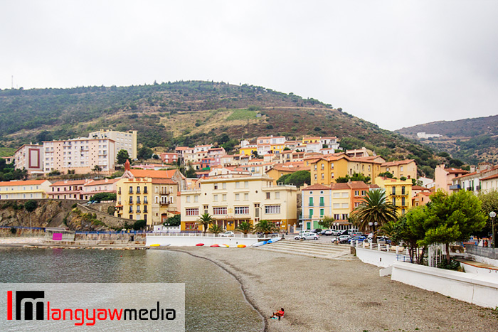 The town of Cerbere in the French regioin of Languedoc-Roussillon