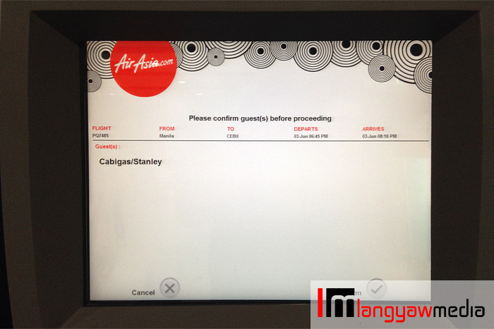If you input the correct booking reference number, passenger name will be displayed plus other details. Confirm.