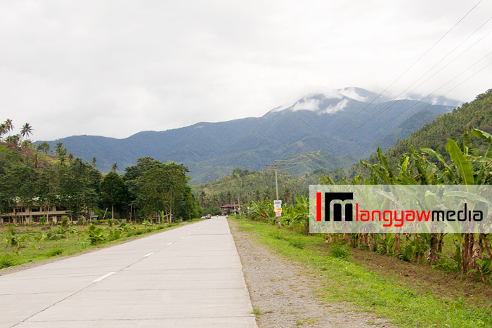 Mt. Hamiguitan Range in the background as photographed along the highway in Gov. Generoso, Davao Oriental