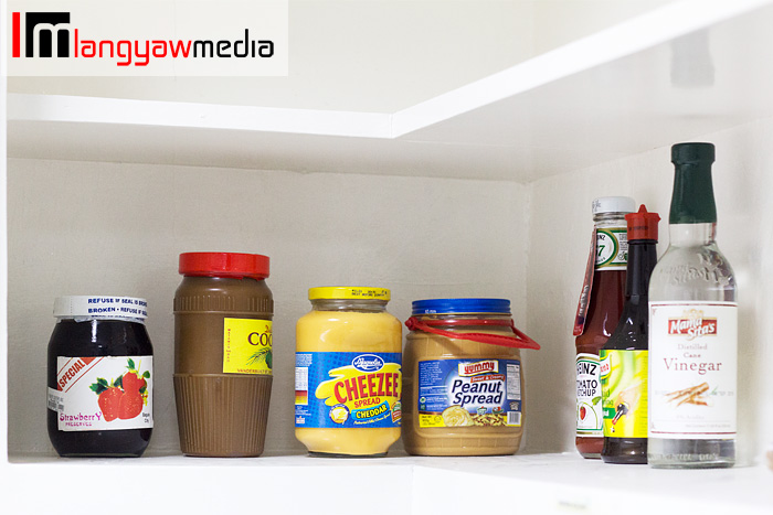 Condiments and edible stuff available at the pantry