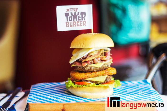 Biggs Diner's Tower Burger