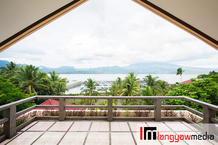 Excellent view of Lake Buhi from the penthouse veranda located at the topmost floor of the main resort building/mansion