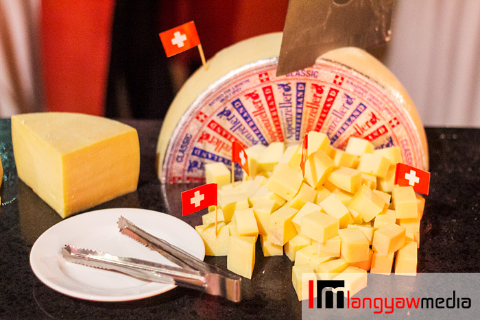 Swiss kaes or cheese, one of the many kinds of Swiss cheese served