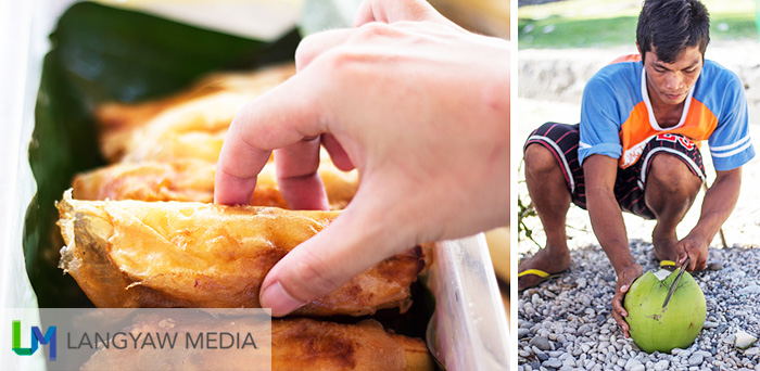Enjoy delicious and cheap turon and young coconuts