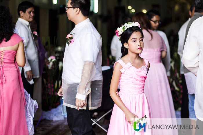 My niece during a relative's wedding