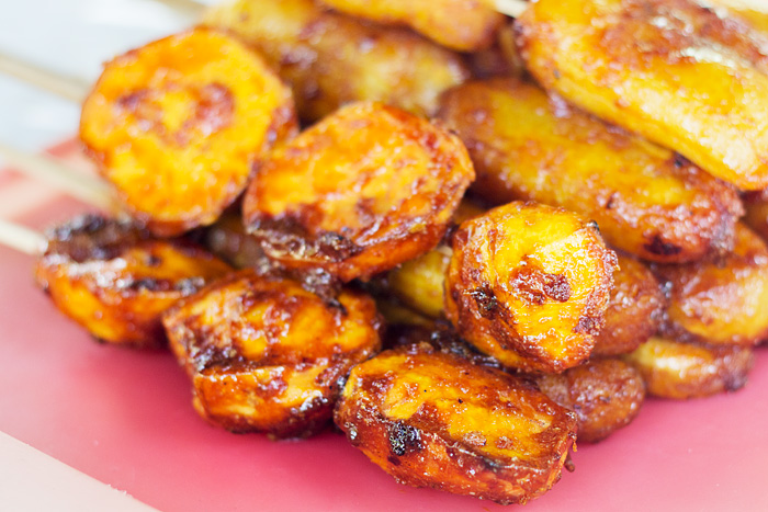 Camotecue. Sweet potatoes fried in oil and 'central' (sugar)