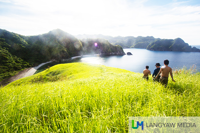 Atop Pitogo Island where you can view one of the scenic spots of Caramoan